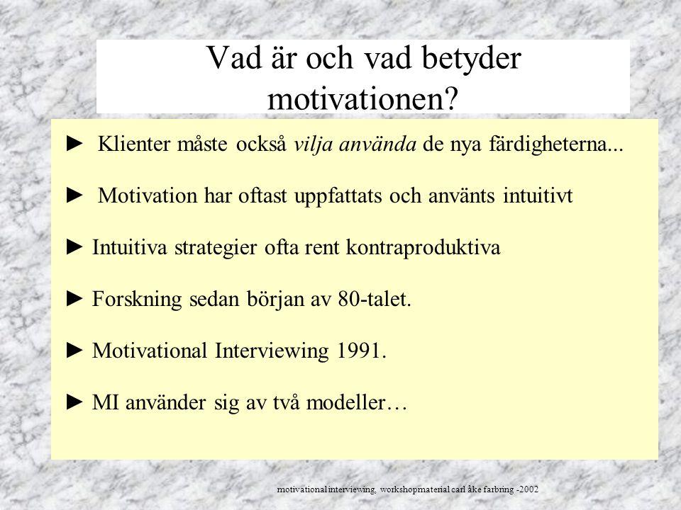 Vad är och vad betyder motivationen