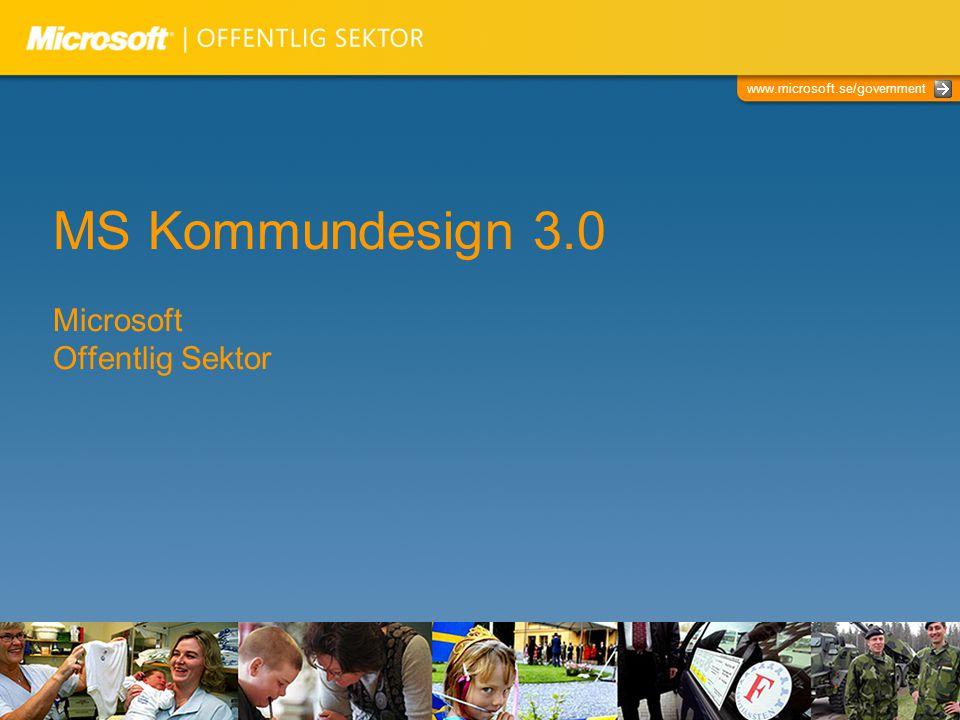 MS Kommundesign 3.0 Microsoft Offentlig Sektor