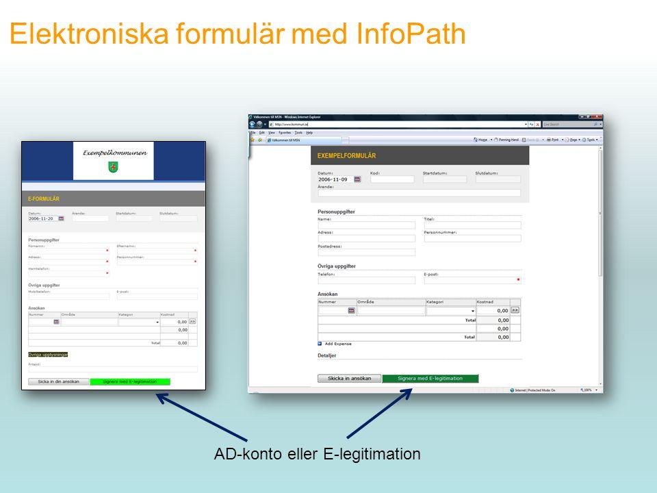 Elektroniska formulär med InfoPath