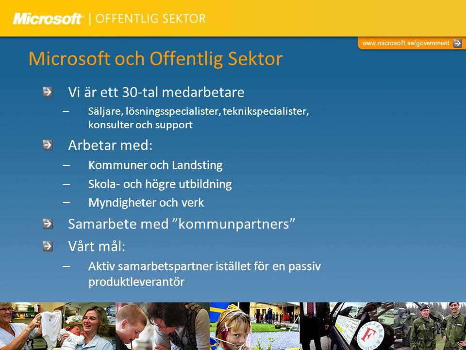 Microsoft och Offentlig Sektor