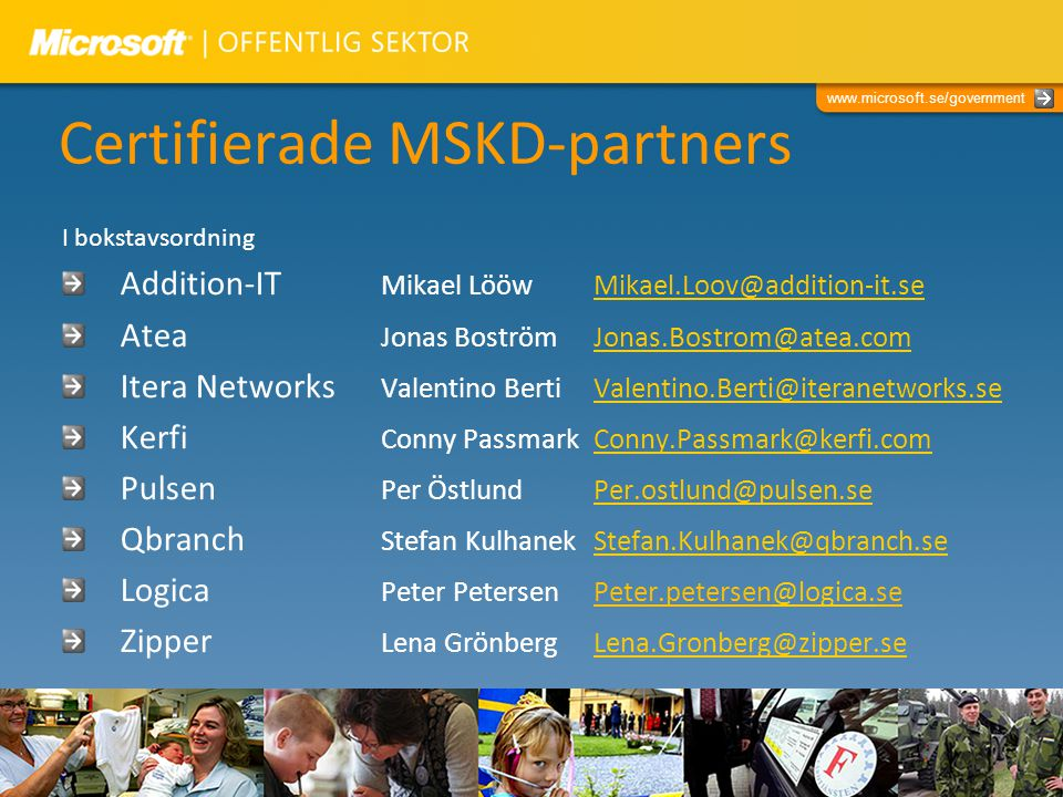 Certifierade MSKD-partners