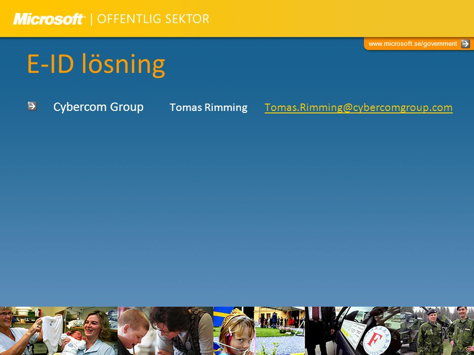 E-ID lösning Cybercom Group Tomas Rimming Tomas.Rimming@cybercomgroup.com