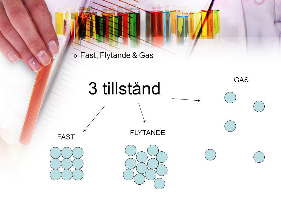 Fast, Flytande & Gas GAS 3 tillstånd FLYTANDE FAST