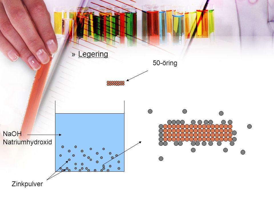 Legering 50-öring NaOH Natriumhydroxid Zinkpulver