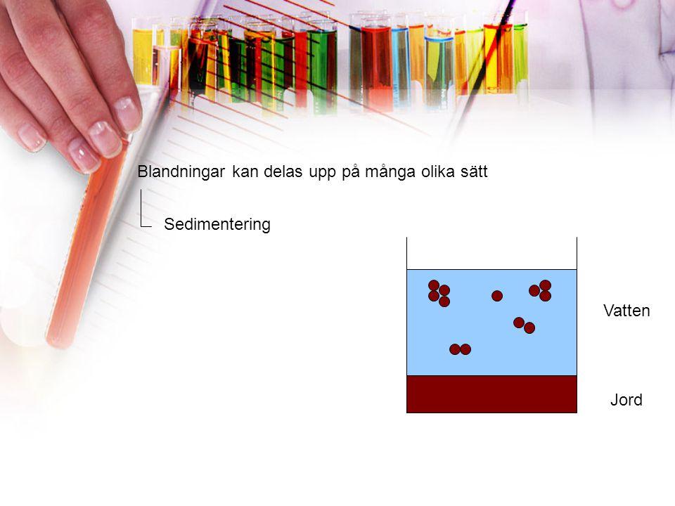 Blandningar kan delas upp på många olika sätt