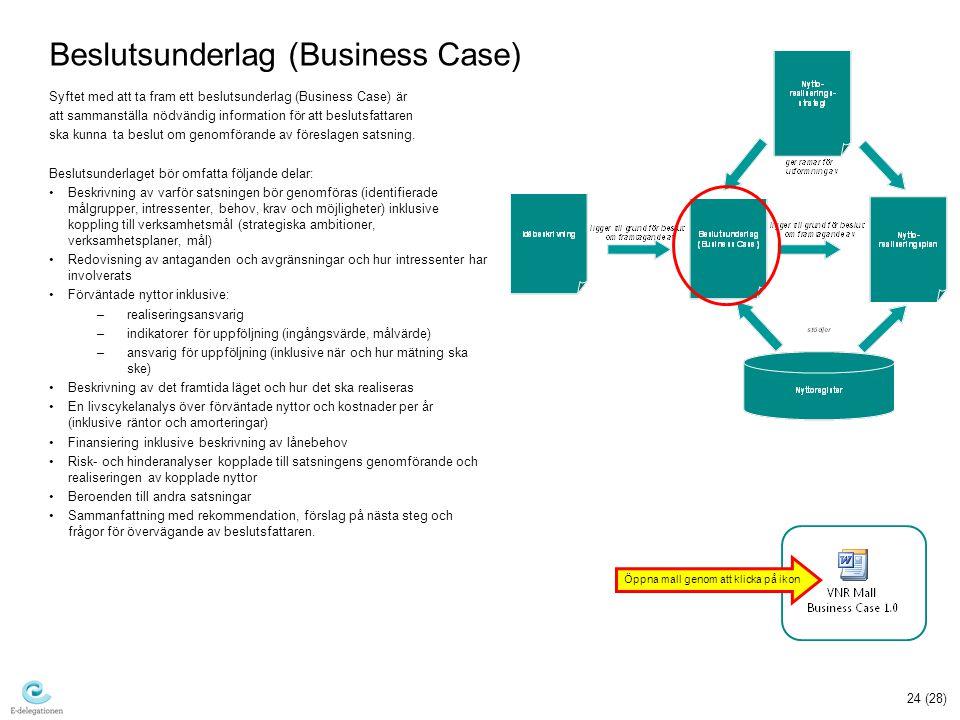 Beslutsunderlag (Business Case)