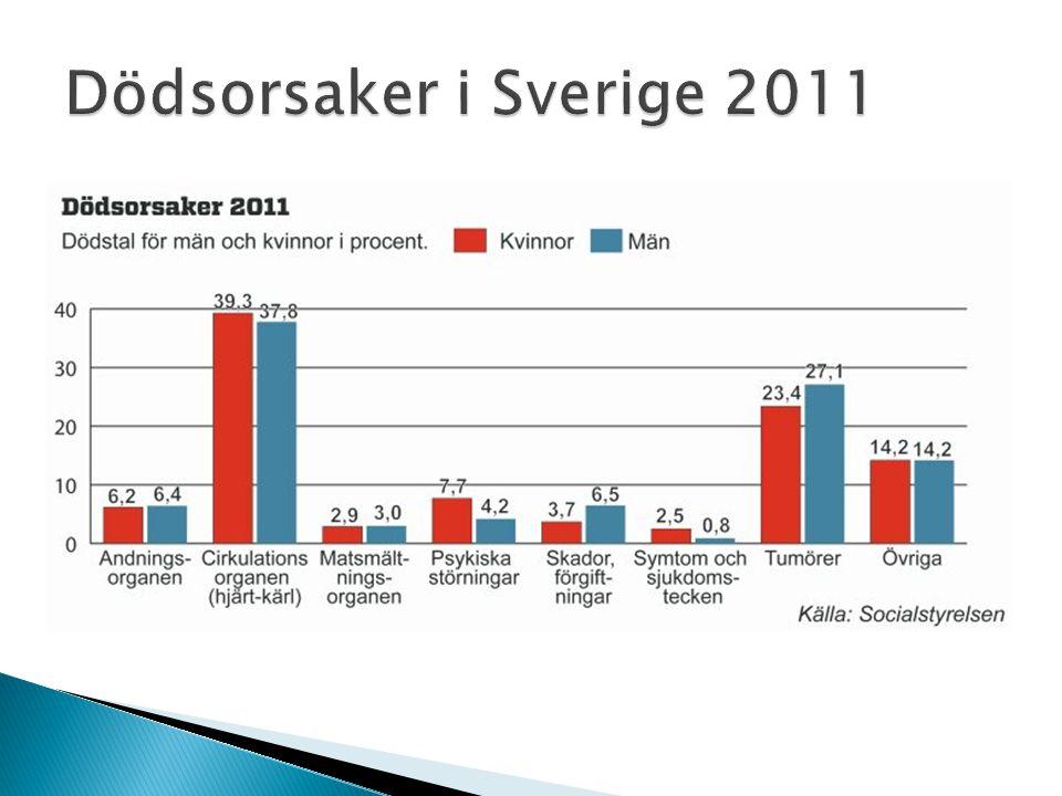 Dödsorsaker i Sverige 2011