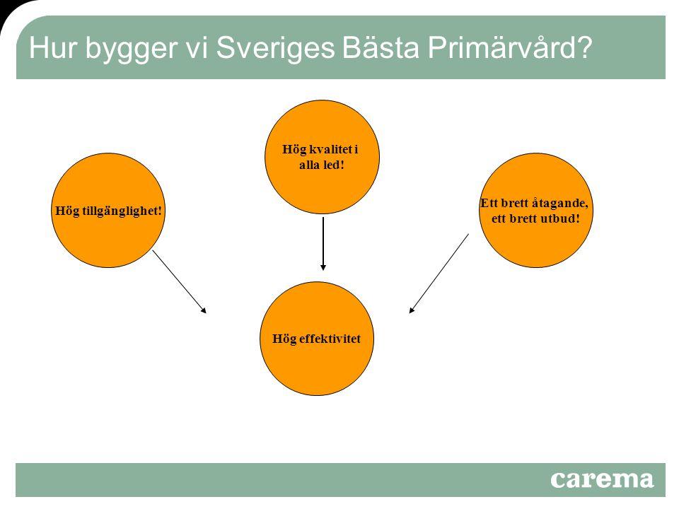 Hur bygger vi Sveriges Bästa Primärvård