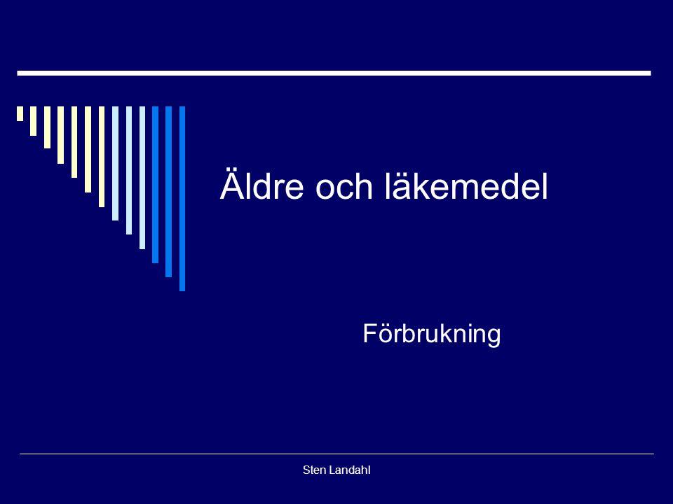 Äldre och läkemedel Förbrukning Sten Landahl