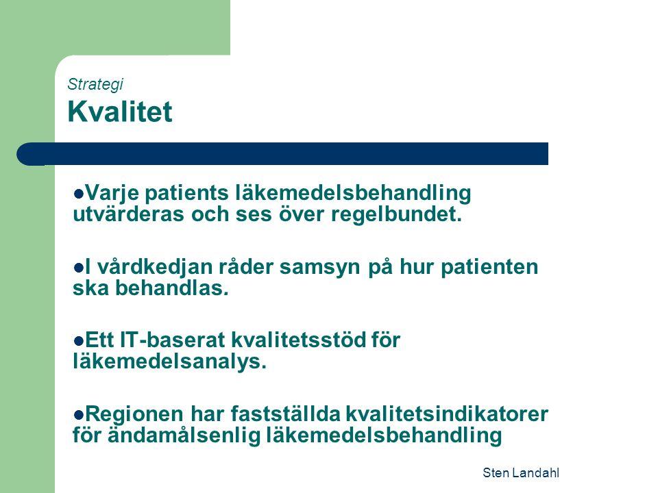 I vårdkedjan råder samsyn på hur patienten ska behandlas.