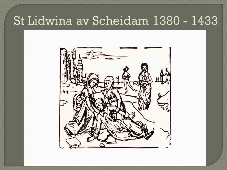 St Lidwina av Scheidam 1380 - 1433