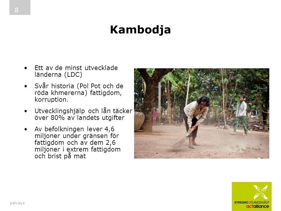 Kambodja Ett av de minst utvecklade länderna (LDC)