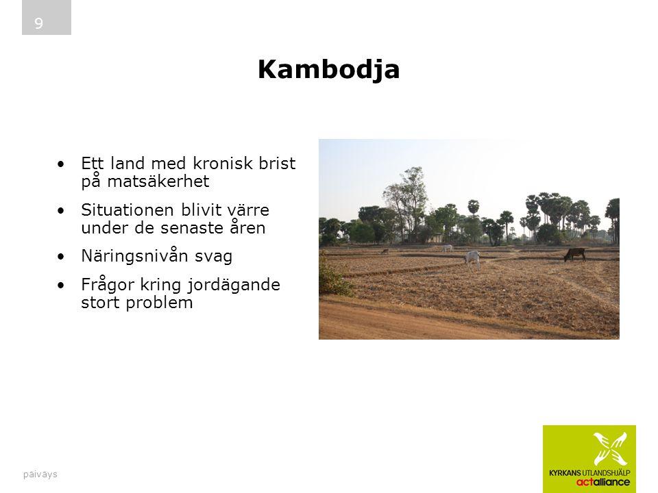 Kambodja Ett land med kronisk brist på matsäkerhet