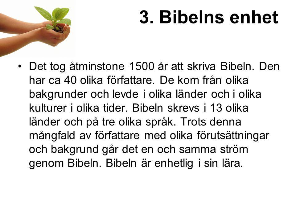3. Bibelns enhet