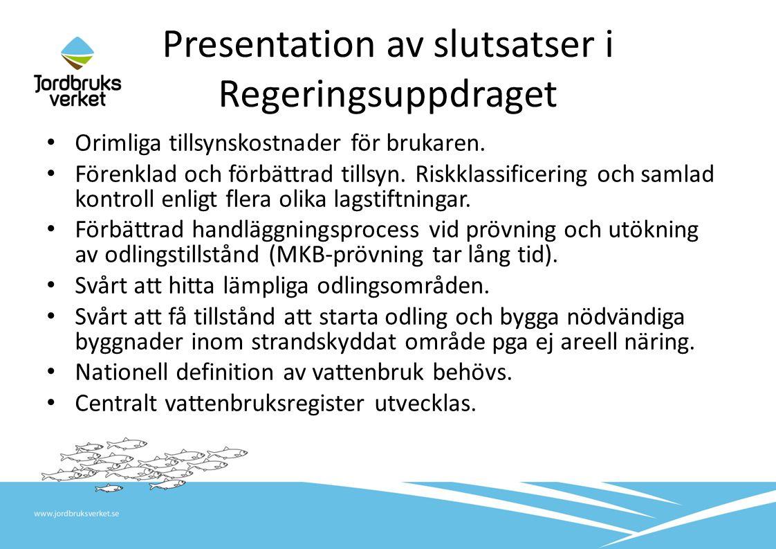Presentation av slutsatser i Regeringsuppdraget