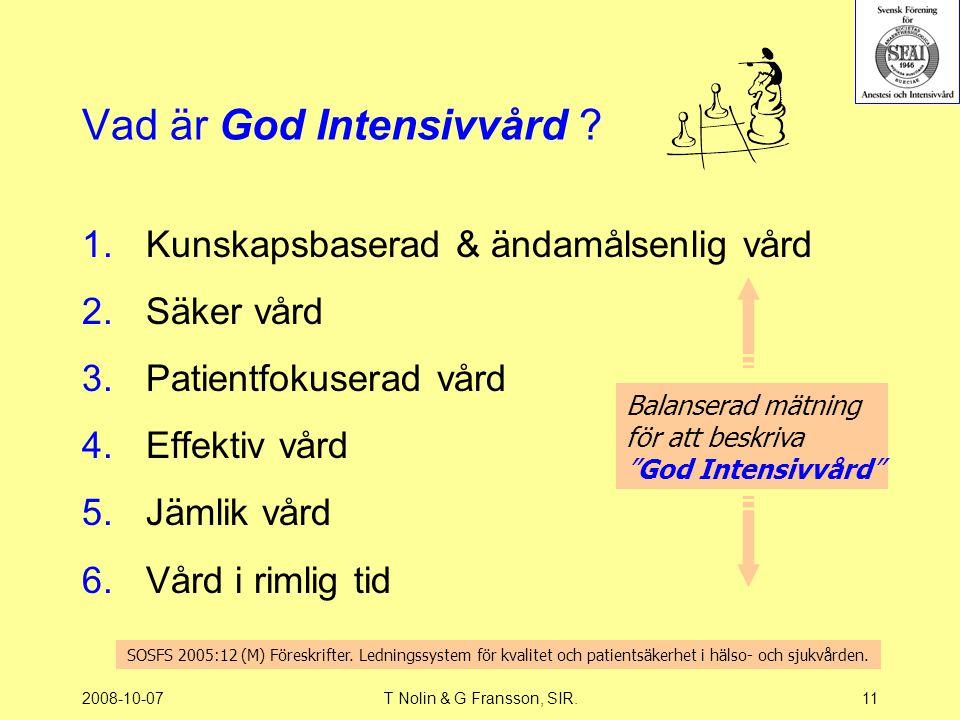 Vad är God Intensivvård
