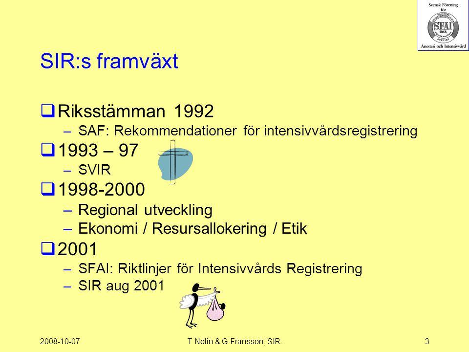 SIR:s framväxt Riksstämman 1992 1993 – 97 1998-2000 2001