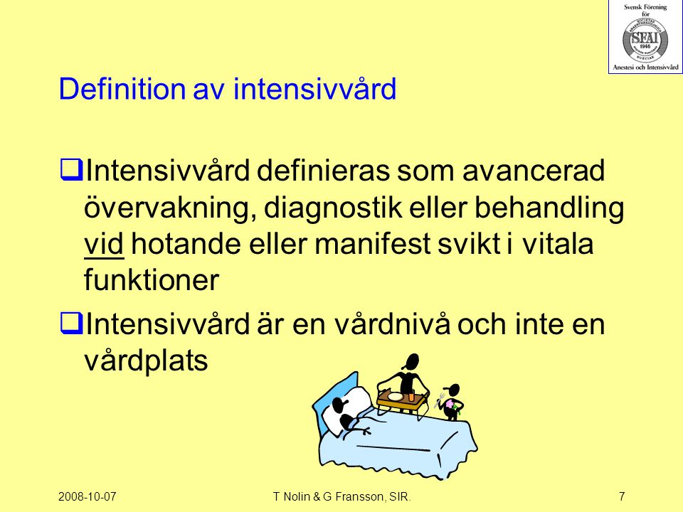 Definition av intensivvård