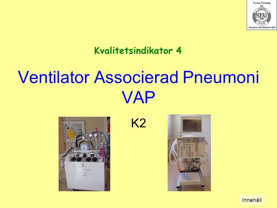 Ventilator Associerad Pneumoni VAP