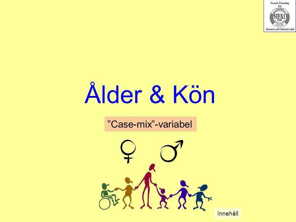Ålder & Kön Case-mix -variabel Innehåll