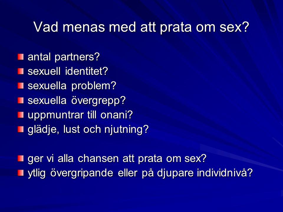 Vad menas med att prata om sex