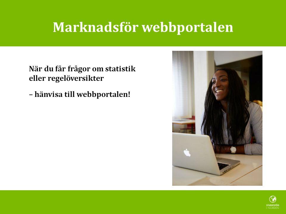 Marknadsför webbportalen