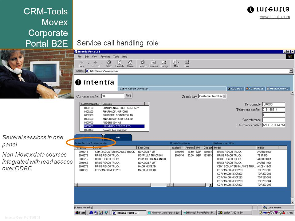 CRM-Tools Movex Corporate Portal B2E