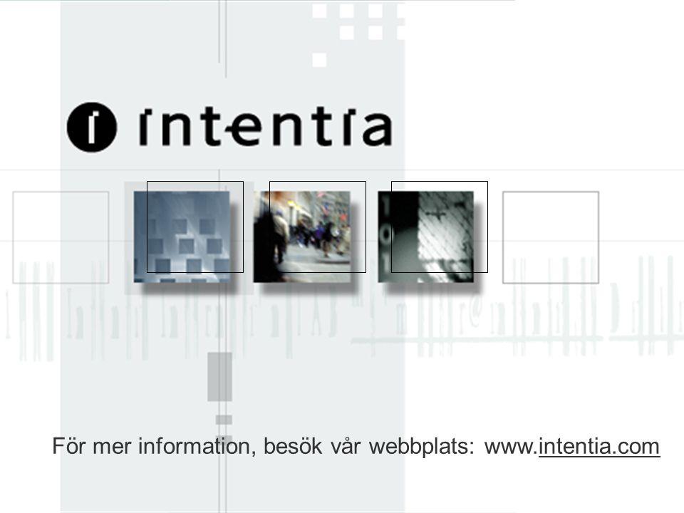 För mer information, besök vår webbplats: www.intentia.com