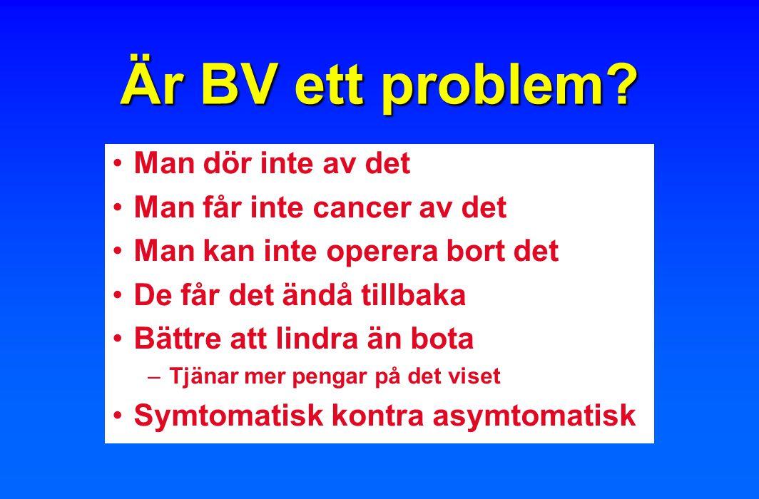 Är BV ett problem Man dör inte av det Man får inte cancer av det