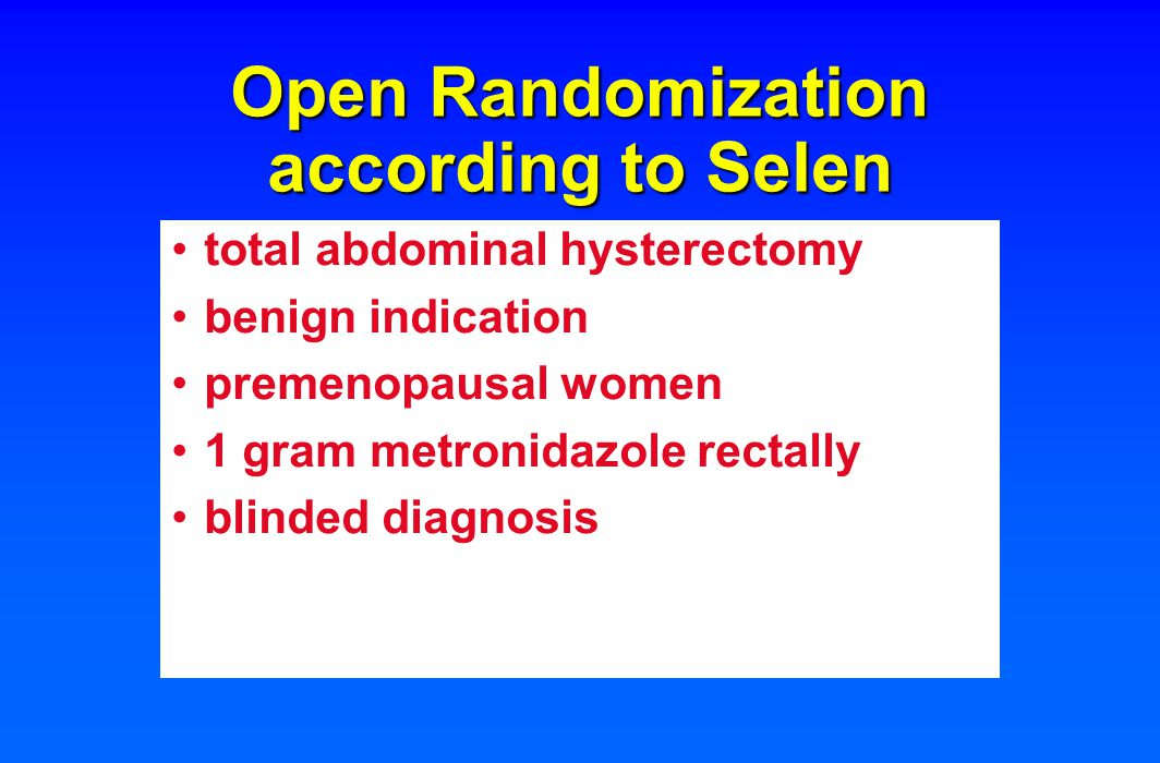 Open Randomization according to Selen