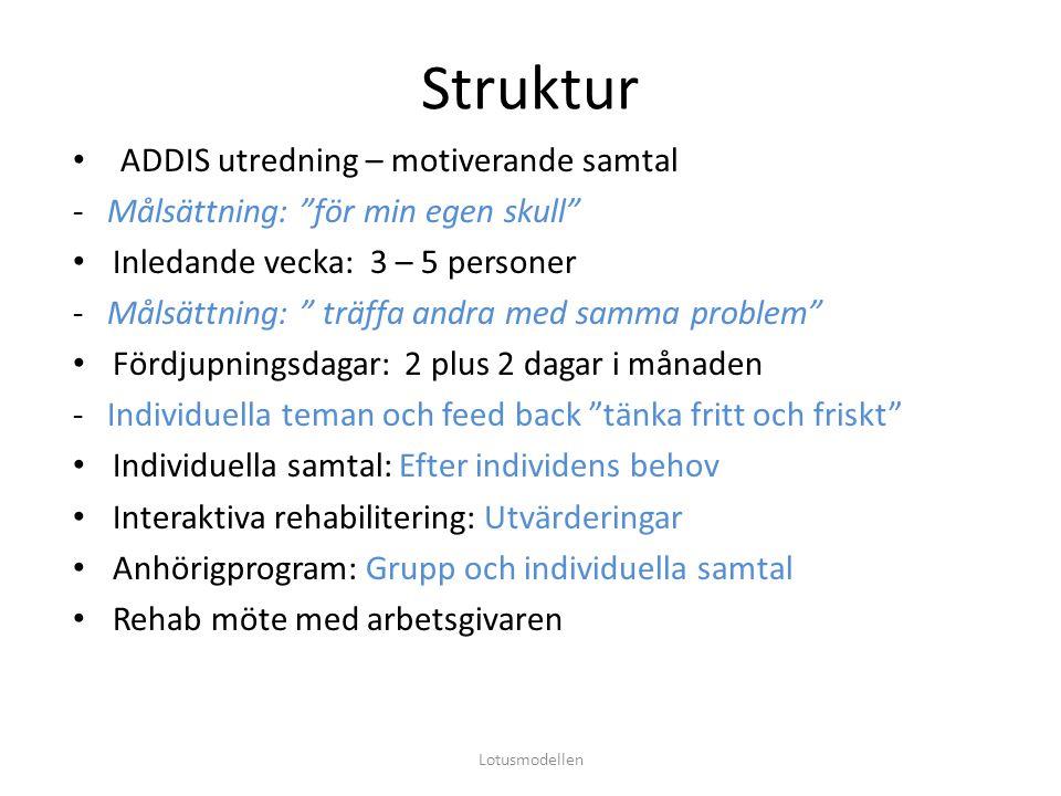 Struktur ADDIS utredning – motiverande samtal