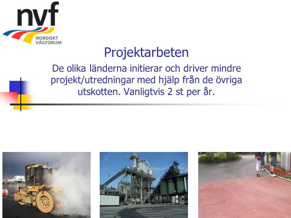 Projektarbeten De olika länderna initierar och driver mindre projekt/utredningar med hjälp från de övriga utskotten.
