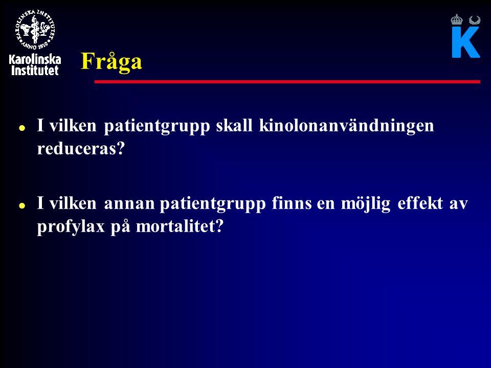 Fråga I vilken patientgrupp skall kinolonanvändningen reduceras