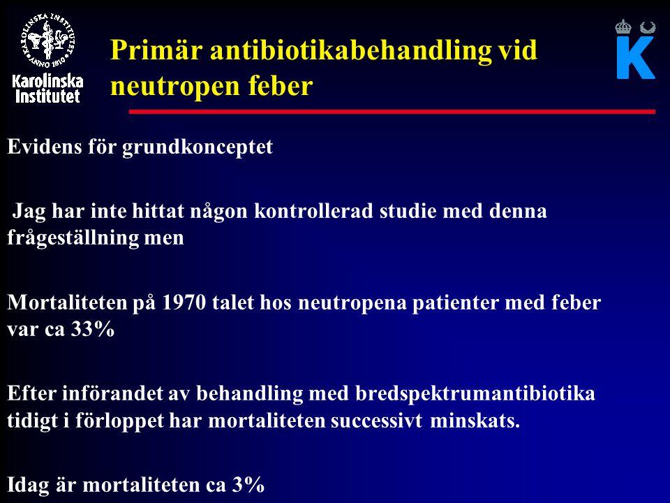 Primär antibiotikabehandling vid neutropen feber