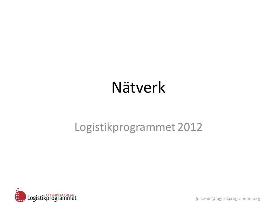 Nätverk Logistikprogrammet 2012