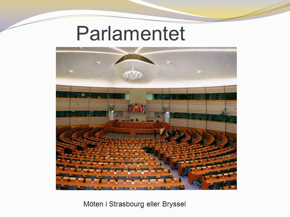 Parlamentet Möten i Strasbourg eller Bryssel 10