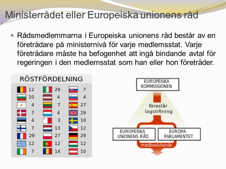 Ministerrådet eller Europeiska unionens råd