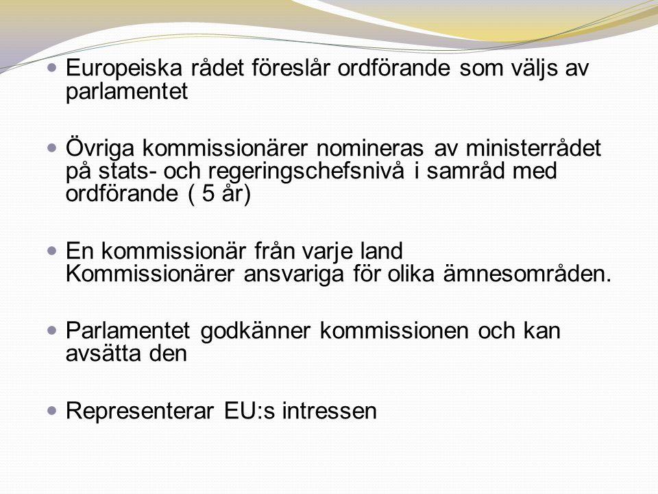 Europeiska rådet föreslår ordförande som väljs av parlamentet