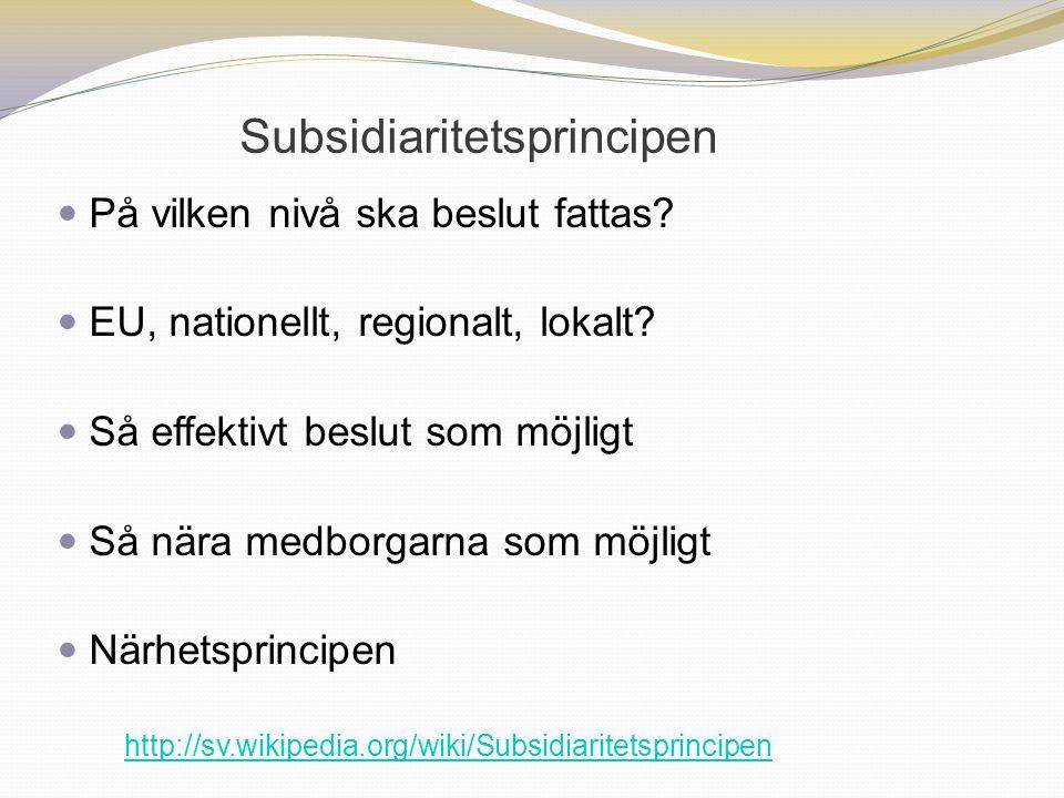 Subsidiaritetsprincipen