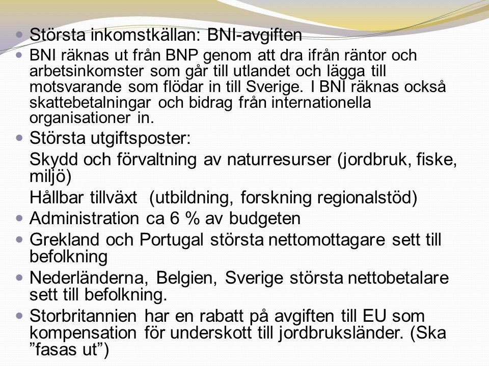 Största inkomstkällan: BNI-avgiften