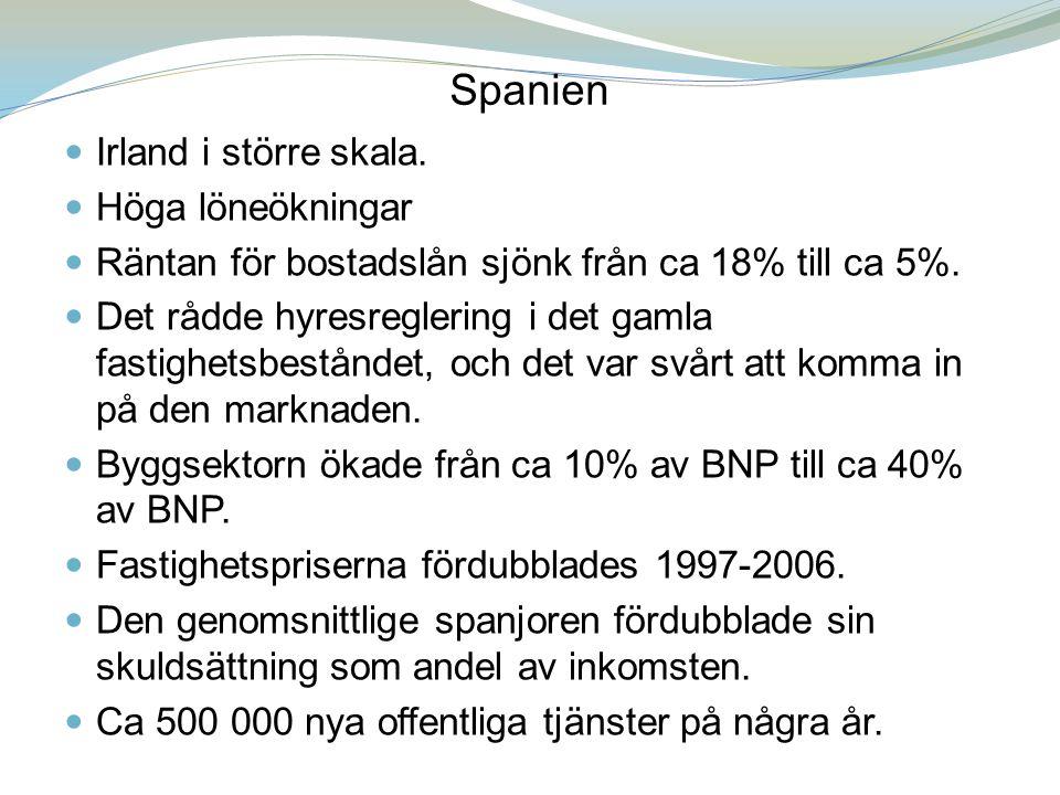 Spanien Irland i större skala. Höga löneökningar
