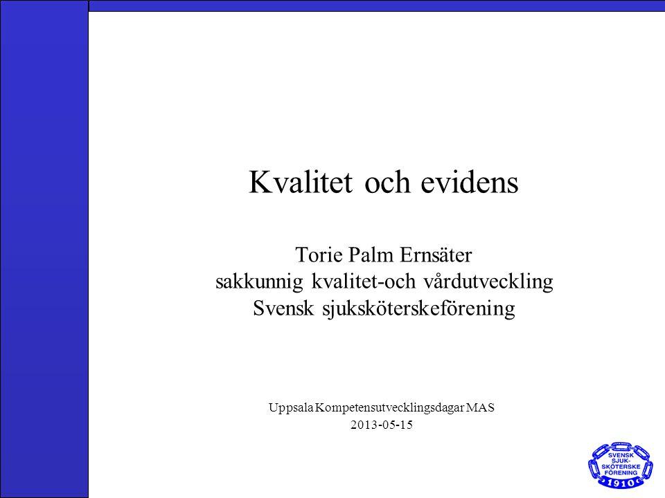 Uppsala Kompetensutvecklingsdagar MAS 2013-05-15