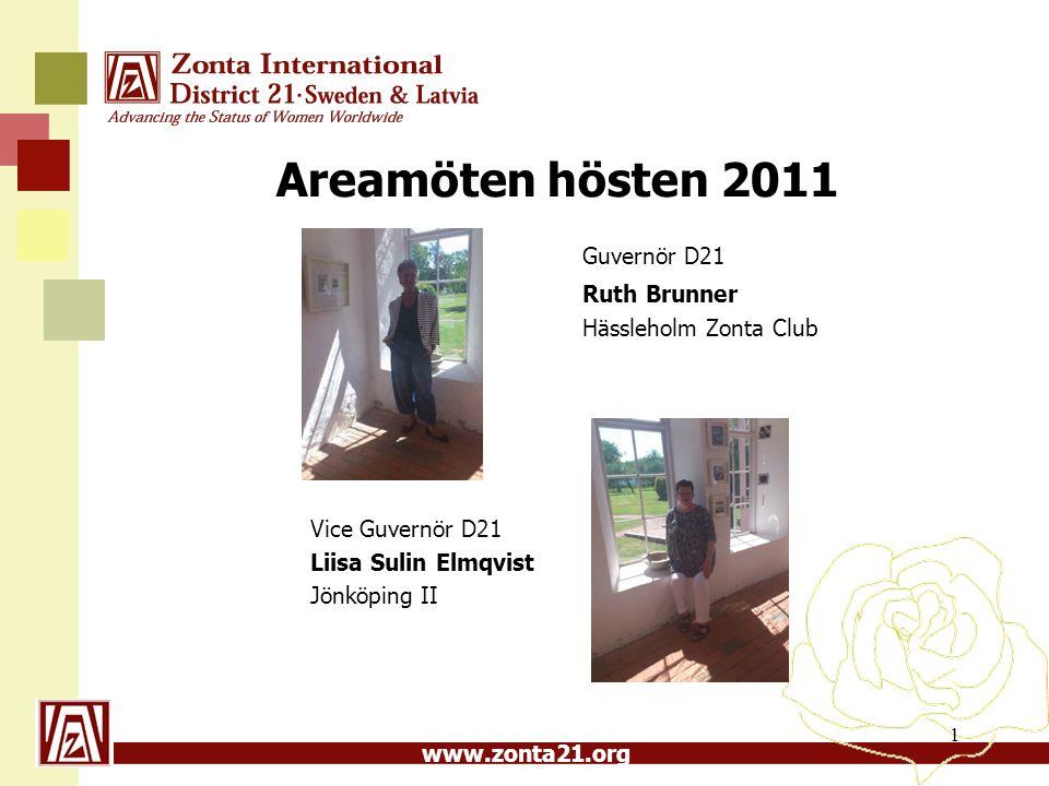Guvernör D21 Areamöten hösten 2011 Ruth Brunner Hässleholm Zonta Club