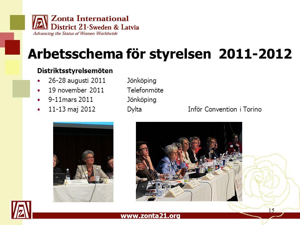 Arbetsschema för styrelsen 2011-2012