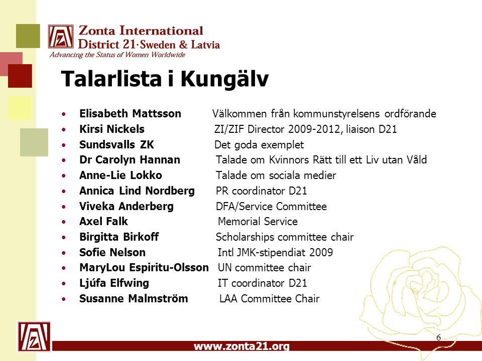 Talarlista i Kungälv Elisabeth Mattsson Välkommen från kommunstyrelsens ordförande.