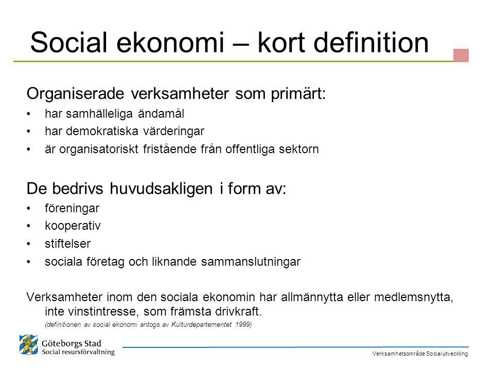 Social ekonomi – kort definition