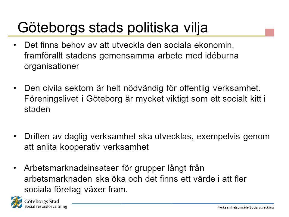 Göteborgs stads politiska vilja
