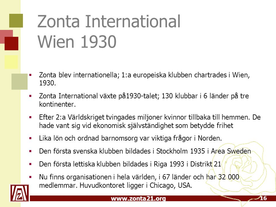 Zonta International Wien 1930
