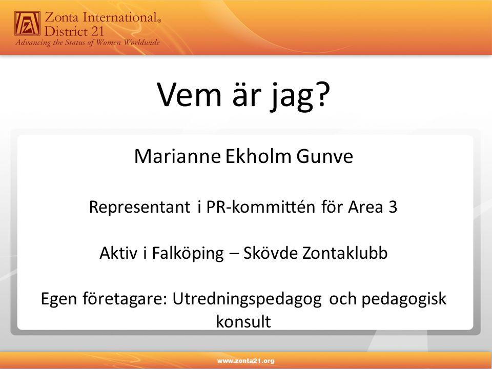 Vem är jag Marianne Ekholm Gunve