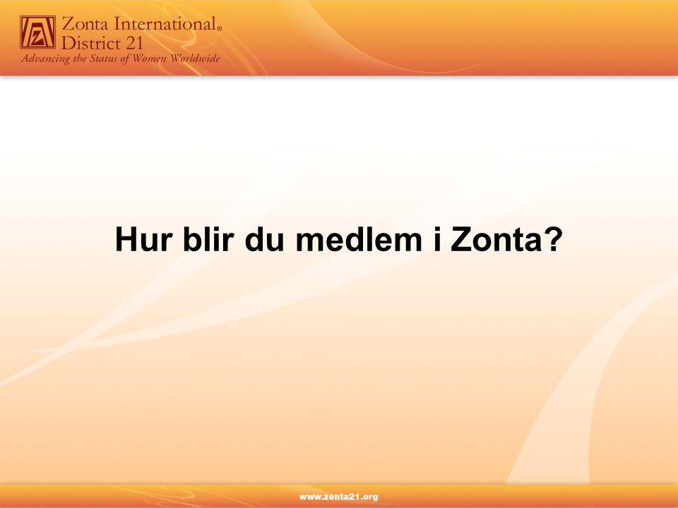 Hur blir du medlem i Zonta